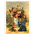 Vase / Scottie (blk) Small Poster