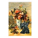 Vase / Scottie (blk) Postcards (Package of 8)
