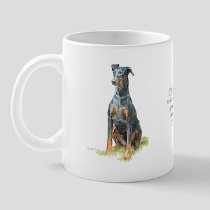 Doberman paintings on mug