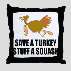 Vegetarian Thanksgiving Throw Pillow