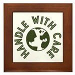 Handle With Care Framed Tile