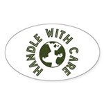 Handle With Care Oval Sticker