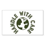 Handle With Care Rectangle Sticker 10 pk)