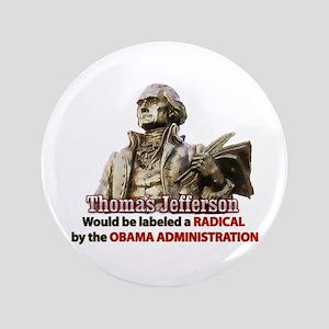 """Thomas Jefferson founding father 3.5"""" Button"""