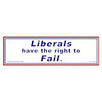 Liberals have the right to Fa Sticker (Bumper 50 p