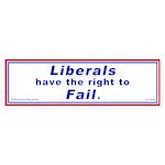 Liberals have the right to Fa Sticker (Bumper 10 p