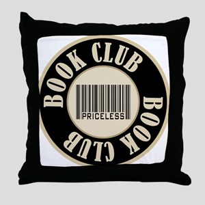 Book Club is Priceless Throw Pillow