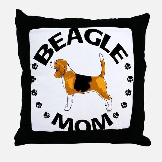 Beagle Mom Throw Pillow
