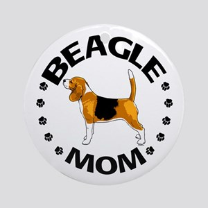 Beagle Mom Ornament (Round)