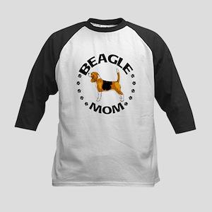 Beagle Mom Kids Baseball Jersey