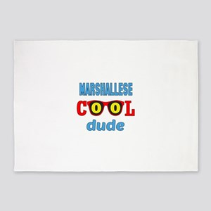 Marshallese Cool Dude 5'x7'Area Rug