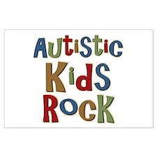 Autistic Kids Rock Large Poster