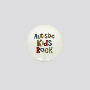 Autistic Kids Rock Mini Button