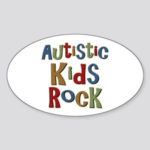 Autistic Kids Rock Oval Sticker