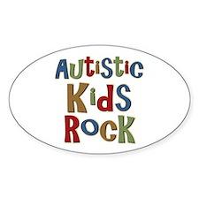 Autistic Kids Rock Oval Sticker