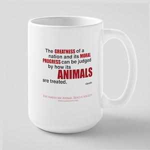 """Greatness of a Nation"" Large Mug"