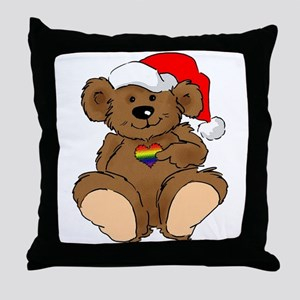 Christmas Bear Gay  Throw Pillow