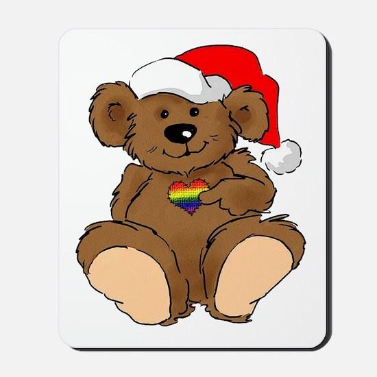 Christmas Bear Gay  Mousepad