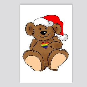 Christmas Bear Gay  Postcards (Package of 8)