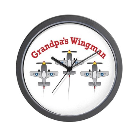 Aviation Grandpa's Wingman Wall Clock