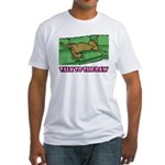 Talk to the Paw Fitted T-Shirt (w/ 2CG logo)