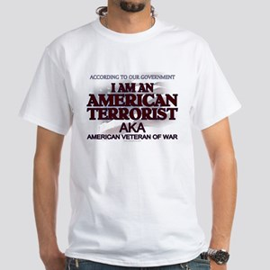 American Terrorist Veteran of White T-Shirt