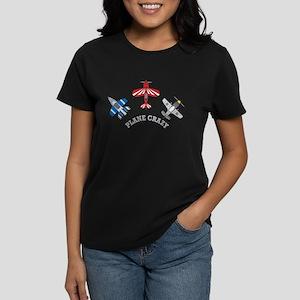 Aviation Plane Crazy Women's Dark T-Shirt