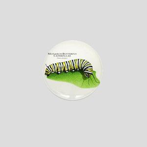 Monarch Butterfly Caterpillar Mini Button