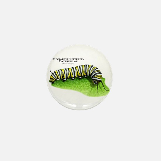 Monarch Butterfly Caterpillar Mini Button