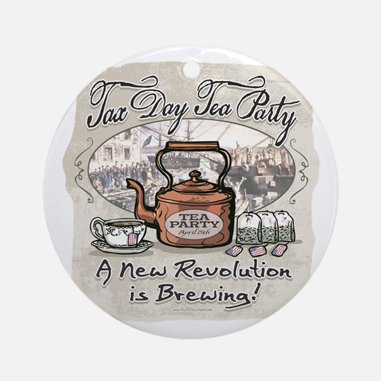 Tax Day Tea Party Ornament (Round)