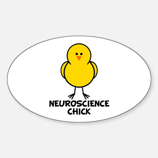 Neuroscience Chick Oval Decal