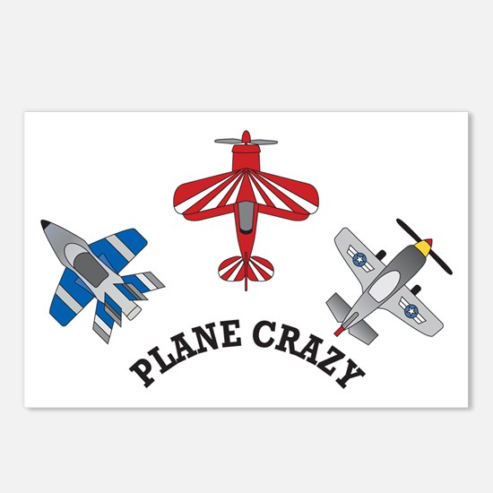 Aviation Plane Crazy Postcards (Package of 8)