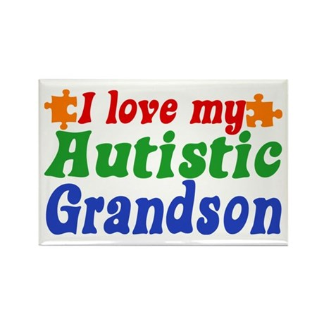 Autistic Grandson Rectangle Magnet