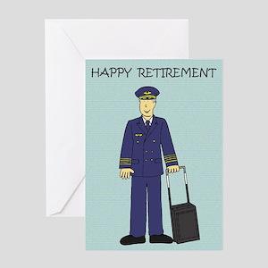 Happy Retirement Pilot Greeting Cards