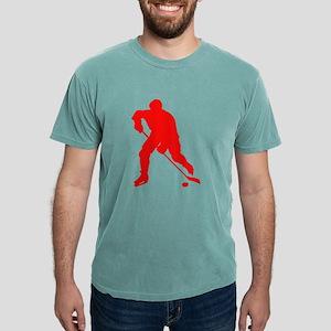 Red Hockey Player Silhouette T-Shirt