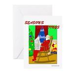 Relaxing Santa Christmas Cards (Pk of 10)