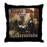 Right-Wing Extremists Throw Pillow