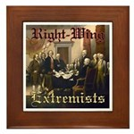 Right-Wing Extremists Framed Tile