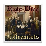 Right-Wing Extremists Tile Coaster