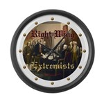 Right-Wing Extremists Large Wall Clock