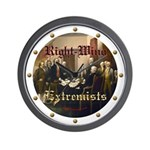 Right-Wing Extremists Wall Clock