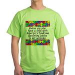 He Has Asperger's Green T-Shirt