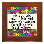 She Has Asperger's Framed Tile