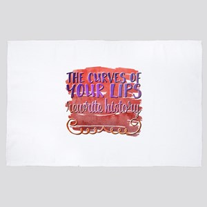 The curves of your lips rewrite histor 4' x 6' Rug