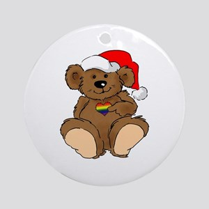 Christmas Bear Gay  Ornament (Round)