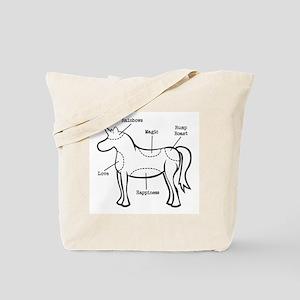 Unicorn Parts Tote Bag