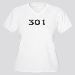 301 Area Code Women's Plus Size V-Neck T-Shirt