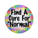 """Cure Normal 3.5"""" Button"""