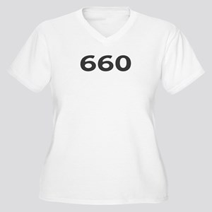 660 Area Code Women's Plus Size V-Neck T-Shirt