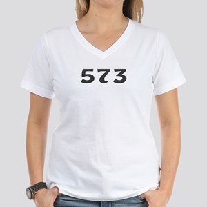 573 Area Code Women's V-Neck T-Shirt